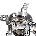cheap Camp Kitchen-One-piece Suit Camping Stove Camping Burner Stove Outdoor Windproof Mini Rain-Proof / Stainless steel Aluminium Alloy Outdoor for Hiking Camping Silver