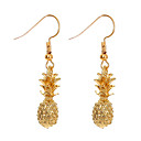 cheap Other Nail Tools-Women's Sculpture Drop Earrings - Pineapple, Fruit Simple, Cute Gold For Daily Holiday