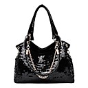 cheap Clutches & Evening Bags-Women's Bags PU(Polyurethane) Tote Sequin Black
