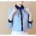 billige Taklamper-Skjortekrage Bluse Dame - Ensfarget
