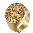 cheap Men's Rings-Men's Retro Midi Ring Signet Ring - Titanium Steel Creative Vintage Jewelry Gold For Party Daily 8 / 9 / 10 / 11 / 12