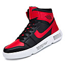 cheap Men's Sneakers-Men's Comfort Shoes PU(Polyurethane) Fall Casual Sneakers Non-slipping Black / Black / White / Black / Red