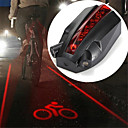cheap Bike Frame Bags-Laser LED Bike Light Tail Light Mountain Bike MTB Cycling Waterproof Creative Durable Rechargeable Battery 100 lm Red Cycling / Bike / ABS