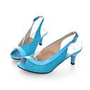 halpa Naisten sandaalit-Naisten Sandaalit Comfort-kengät Stilettikorko PU Kevät Hopea / Fuksia / Sininen