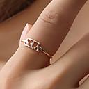 preiswerte Moderinge-Damen Ring Einstellbarer Ring - Kreativ, Buchstabe Einfach, Koreanisch Verstellbar Gold / Schwarz / Silber Für Party Alltag Strasse