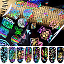 cheap Nail Glitter-8 pcs 3D Nail Stickers Star nail art Manicure Pedicure Best Quality Fashion / Colorful Daily / Festival