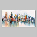 cheap Framed Oil Paintings-Oil Painting Hand Painted - Abstract / Landscape Modern Canvas