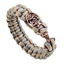 cheap Men's Bracelets-Men's Braided Loom Bracelet - Skull Vintage, Punk Bracelet Gold / Silver / Rose Gold For Street Club