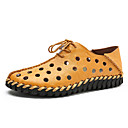 cheap Men's Slip-ons & Loafers-Men's Moccasin Cowhide Summer Loafers & Slip-Ons Water Shoes White / Yellow / Party & Evening / Party & Evening / Office & Career