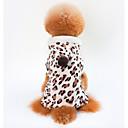 billige Hundeklær-Hunder / Katter Frakker Hundeklær Leopard Brun 100% Korall Fleece Kostume For kjæledyr Unisex Fritid / hverdag / Oppvarminger