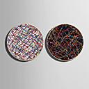 זול אומנות ממוסגרת-קאנבס ממוסגר סט ממוסגר - מופשט פלסטיק איור וול ארט