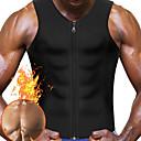 billige Penger og banking-Vest til midjestyrking / Body Shaper / Hot Sweat Workout Tank Top Slimming Vest Med neopren Glidelås Vekttap, Tummy Fat Burner Til Herre Yoga & Danse Sko / Trening & Fitness / Treningssenter Mage