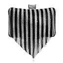 hesapli Zarf Çantalar ve Gece Çantaları-Kadın's Çantalar Polyester / alaşım Gece Çantası Kristal Detaylar için Davet / Parti / Tatil İlkbahar yaz / Sonbahar Kış Gökküşağı / Gümüş / Siyah / Beyaz