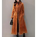 זול שטיחים-מעיל ארוך של נשים - בצבע מלא