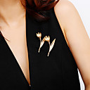 tanie Modne broszki-Damskie Klasyczny Broszki - Kwiat Prosty, Klasyczny, Elegancja Broszka Złoty / Srebrny Na Ślub / Zaręczynowy / Party Wieczór