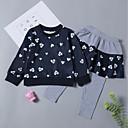 cheap Girls' Clothing Sets-Toddler Girls' Print Long Sleeve Clothing Set