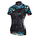 cheap Oil Paintings-ILPALADINO Women's Short Sleeve Cycling Jersey - Black Deer Plus Size Bike Jersey Top, Breathable Quick Dry Ultraviolet Resistant Polyester 100% Polyester Terylene / Stretchy