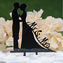 cheap Cake Toppers-Cake Topper Classic Theme / Wedding Cut Out Acryic / Polyester Wedding / Anniversary with Acrylic 1 pcs PVC Bag