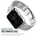 preiswerte Smart Uhr Accessoires-Edelstahl Uhrenarmband Gurt für Apple Watch Series 3 / 2 / 1 Schwarz / Silber / Gold 23cm / 9 Zoll 2.1cm / 0.83 Inch