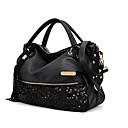cheap Holiday Party Decorations-Women's Bags PU(Polyurethane) Tote Glitter / Tassel Black