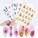 cheap Water Transfer Nail Stickers-55 pcs Water Transfer Sticker Strawberry / Flower Shape nail art Manicure Pedicure New Design / Best Quality Sweet / Colorful Party / Evening / Masquerade / Engagement Party