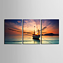 olcso Feszített vászonnyomat-Nyomtatás Hullámos vászonnyomtatás / Kifeszített vászonnyomat - Landscape / Vízi és hajózási jel Modern