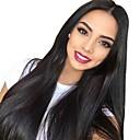 preiswerte Echthaar Perücken mit Spitze-Echthaar Spitzenfront Perücke Brasilianisches Haar / Burmesischen Haar Glatt Perücke 130% Damen / Einfaches An- und Ausziehen / Beste Qualität Natürlich Damen Lang Echthaar Perücken mit Spitze