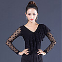 cheap Ballroom Dancewear-Ballroom Dance Tops Women's Performance Ice Silk Lace / Ruching Long Sleeve Top