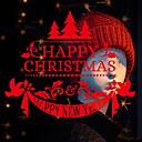 abordables Adhesivos de Pared-Ventana de película y pegatinas Decoración Navidad Geométrico CLORURO DE POLIVINILO Adorable / Cool
