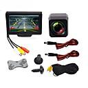 tanie Kamery samochodowe tylne-BYNCG WG4.3T-4LED 4.3 in TFT-LCD 480TVL 480p 1/4 cala color CMOS Przewodowa 120 stopni 1 pcs 120 ° 4.3 in Tylna kamera / Monitor cofania samochodu / Zestaw z tylną kamerą Wodoodporny / Wskaźnik LED