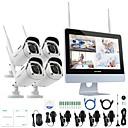 billige Trådløst CCTV System-annke® 4ch 1080p wifi nvr sikkerhetssystem vanntett ip kamera uten hdd