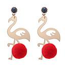 رخيصةأون حلقات الأذن-نسائي أشكال النحت أقراط قطرة - كرة, البشروس طائر مائي أوروبي, موضة, لطيف وردي / أحمر / أخضر من أجل فضفاض