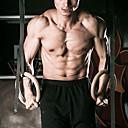 tanie Pilates-KYLINSPORT Kółka gimnastyczne Z Paski klamrowe 23 cm Średnica Drewno Regulowany, Olimpijski, Mocny Crossfit, Podciąganie, Siła ramion Dla Joga / Fitness / Siłownia