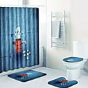 billige Såpekopper-Tegneserie Badematter 100g / m2 Polyester Strik Stretch Kreativ Uregelmessig Nytt Design