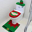 billige Julepynt-Toalett sete deksel teppe bad satt med papirhåndkle deksel til julegave nyttår hjemme dekorasjoner