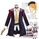 abordables Disfraces de Anime-Inspirado por Touhou Project Flandre Scarlet Animé Disfraces de cosplay Trajes Cosplay Enrejado Chaqueta / Blusa / Pantalones Para Mujer