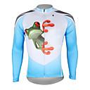 preiswerte Radtrikots-ILPALADINO Herrn Langarm Fahrradtrikot - Blau und Weiß Frosch Fahhrad Trikot / Radtrikot Oberteile, Atmungsaktiv Rasche Trocknung UV-resistant 100% Polyester