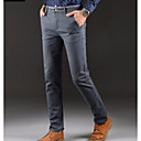 preiswerte Kleidung für Lateinamerikanischen Tanz-Herrn Schlank Chinos Hose - Solide Leicht Blau