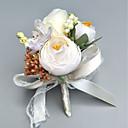 billige Brudebuketter-Brudebuketter Rose I Revers / Håndledskorsage Bryllup / Fest & Aften polyester 2.76 tommer (ca. 7cm)