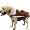 cheap Dog Clothes-Dogs / Cats Coat / Jacket Dog Clothes Solid Colored Brown Cotton Costume For Pets Unisex Casual / Daily / Warm Ups