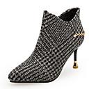 Χαμηλού Κόστους USB-Γυναικεία Fashion Boots PU Φθινόπωρο & Χειμώνας Μινιμαλισμός Μπότες Τακούνι Στιλέτο Μυτερή Μύτη Μποτίνια Γκρίζο / Χακί / Πάρτι & Βραδινή Έξοδος