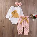 ieftine Pantaloni Bebeluși-Bebelus Fete Buline Manșon Lung Set Îmbrăcăminte