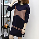 hesapli Anime Cosplay Ayakkabıları-Kadın's Örgü İşi Elbise - Geometrik Diz-boyu