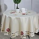 tanie Obrusy-Nowoczesny 100g / m2 Poliester Stretch Knit Zaokrąglony Obrus Geometric Shape Dekoracje stołowe 1 pcs