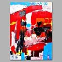 tanie Wydruki-Hang-Malowane obraz olejny Ręcznie malowane - Abstrakcja Nowoczesny Płótno