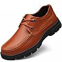 baratos Oxfords Masculinos-Homens Sapatos formais Pele Napa Outono Clássico Oxfords Não escorregar Preto / Marron