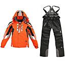 preiswerte Schutzausrüstung fürs Skifahren-Herrn Skijacken & Hosen Windundurchlässig, Wasserdicht, Regendicht Skifahren / Camping & Wandern / Snowboarding 100% Polyester Jacke / Schnee-Trägerhose Skikleidung / warm halten