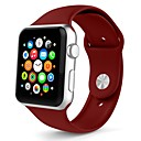 olcso Okos karóra Tartozékok-Silica Gel Nézd Band Szíj mert Apple Watch Series 3 / 2 / 1 Fehér / Orange / Szürke 23cm / 9 inch 2.1cm / 0.83 Hüvelyk