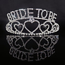 cheap Swatches-Alloy Tiaras with Crystals 1 Piece Wedding / Special Occasion Headpiece