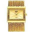 cheap Chandeliers-ASJ Women's Dress Watch Wrist Watch Japanese Quartz 30 m Water Resistant / Water Proof New Design Casual Watch Copper Band Analog Luxury Fashion Silver / Gold - Silver Golden